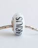 """Aquarius"" Hand Decorated  Bead"