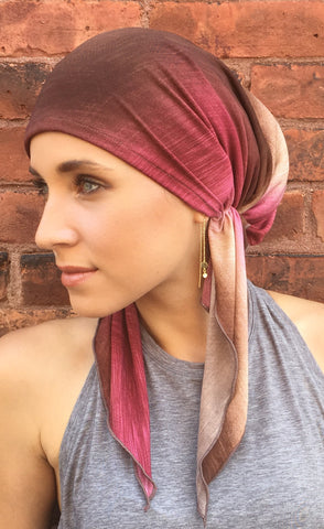 Chocolate Raspberry LIGHTWEIGHT - Uptown Girl Headwear