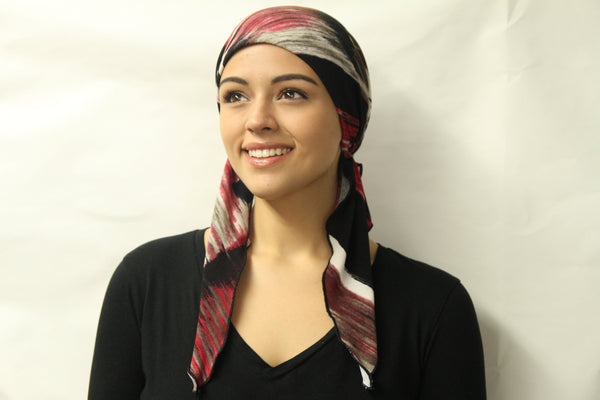 Sale New Easy Wear Slip On Style Pre-Tied Fitted Head Scarf Modern Hijab Head Cover Made in USA - Uptown Girl Headwear