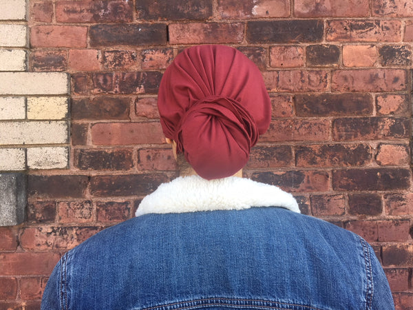Ultra Soft BAMBOO FABRIC Slip On Style Pre-Tied Headscarf Hair Wrap In 7 Colors - Uptown Girl Headwear