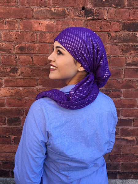 Popular Cotton Pre Tied Headscarf Slip On Style Hair Net Bandana Hijab Chemo Head Scarf For Jewish Christian Muslim African Women - Uptown Girl Headwear