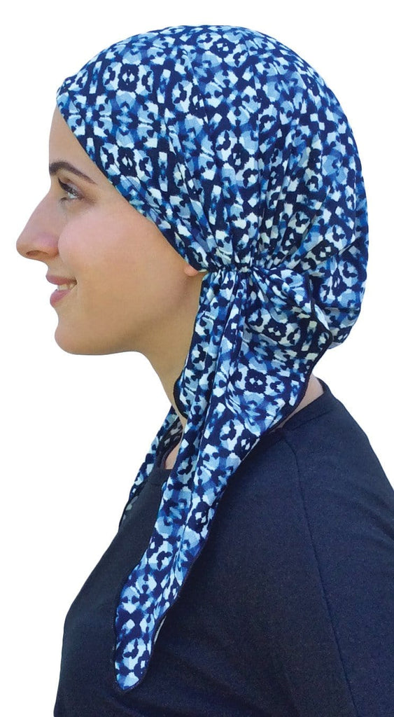Pre Tied Fitted Head Scarf - Manhattan Beach - Uptown Girl Headwear