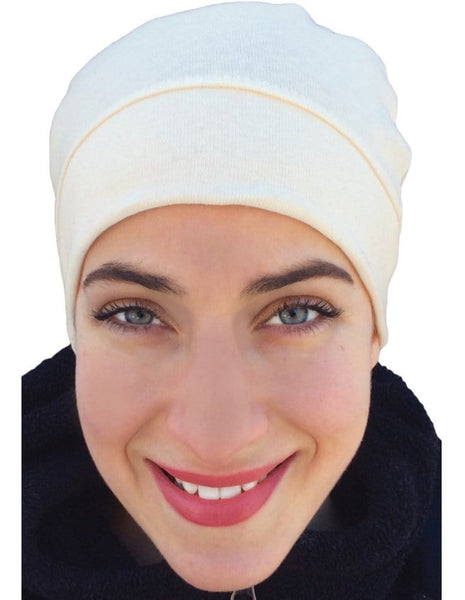 Quality USA ORGANIC Cotton Tagless Unisex Chemo Sleep or Day Hat Cap - Uptown Girl Headwear