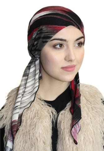 No Fuss Easy To Wear Slip On Style Pre-Tied Fitted Head Scarf Modern Hijab Head Cover Made in USA - Uptown Girl Headwear