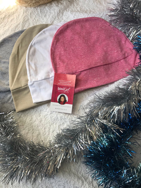 2021 Gift Bundle Of 3 Sleeping Caps For Children & Girls Without Hair, Or Lightweight Head Warmers - Uptown Girl Headwear