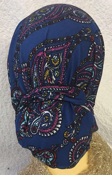 Tie Back Cap For Doctor Nurse Hospital Employee To Conceal Long or Short Hair - Uptown Girl Headwear