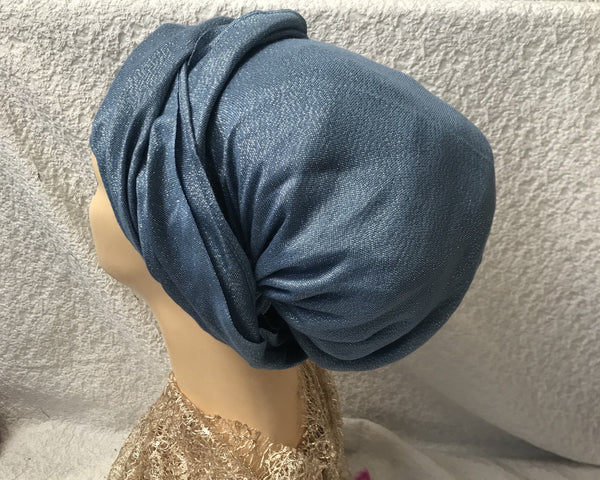 Metallic Shimmer Head Scarf Tichel Hijab Hair Wrap For The Holidays in 8 Great Color Choices - Uptown Girl Headwear
