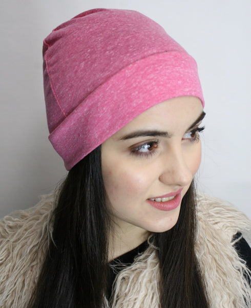 Cotton or Jersey Knit Unisex Undercover Biker Athletic Chemo Sleep Cap For Men & Women - Uptown Girl Headwear