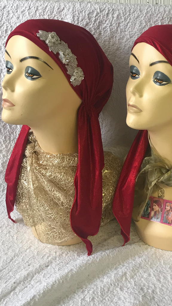 Spring Summer Gift Bundle of 3 Red Head  Scarves For Women - Uptown Girl Headwear