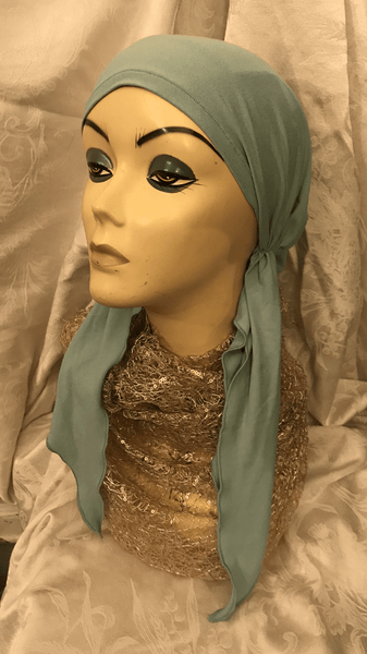 Pastel Pre Tied Headcovering Wrap Tichel Hijab| Made in USA - Uptown Girl Headwear
