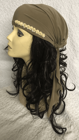 Tan Diva Sleek and Sexy Hair Wrap - Uptown Girl Headwear
