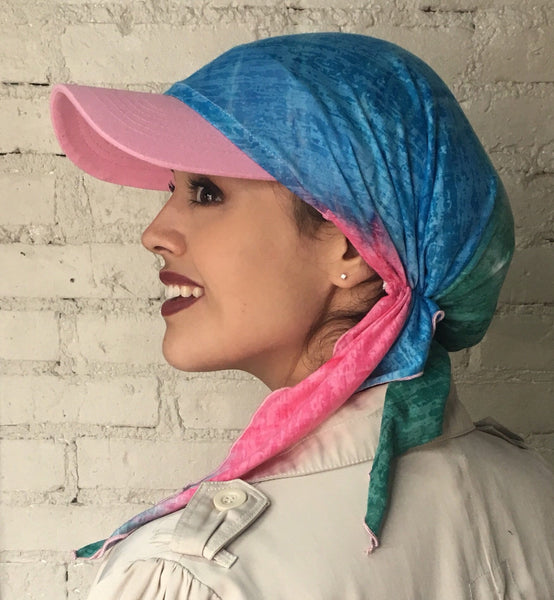 Sold Out. Restocking before 1.31.21. Green Sun Visor Hat To Conceal Hair. Head Scarf Modern Hijab Baseball Cap To Cover Your Hair - Uptown Girl Headwear