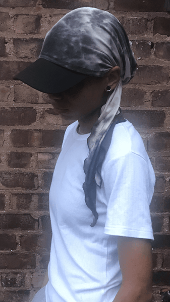 Grey Tie Dye Sun Visor Hat To Help Provide Protection From The Shade - Uptown Girl Headwear