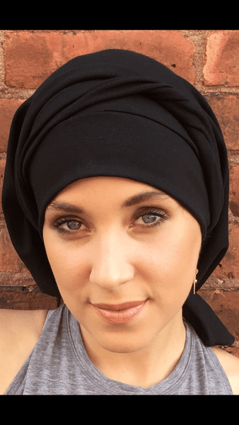 Comfy 10 Way Tie Hair Net Wrap Around Head Wrap Snood Tichel Hijab For Hair Wrapping - Uptown Girl Headwear