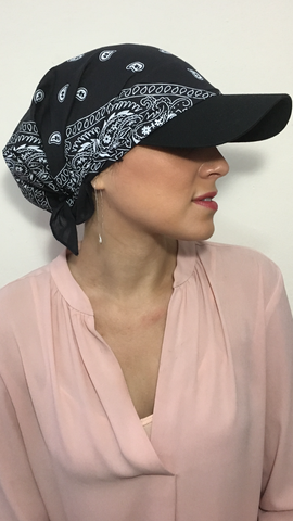 Breathable Cotton Visor Casual Athletic Style Head Scarf For Women - Uptown Girl Headwear