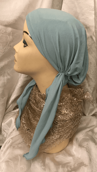 Scrub Hat Tie Back Cap Pre Tied Headcovering Wrap Tichel Hijab| Made in USA - Uptown Girl Headwear