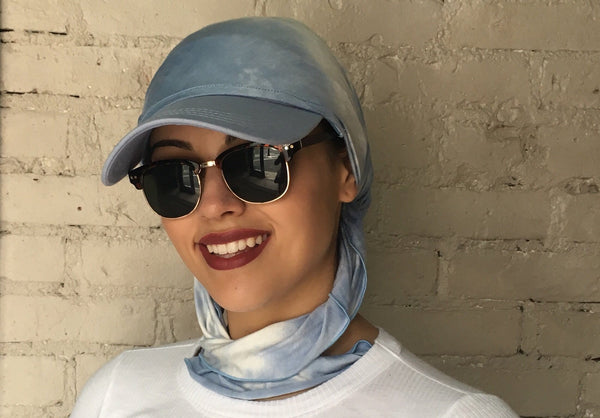 New Easy Slip On Sun Visor Headscarf Hijab Fashion Beach Hat - Uptown Girl Headwear