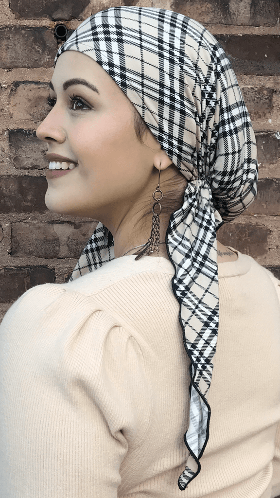 Head Scarf For Women. Scrub Cap & Tie Back Hat For Nurse. Made in USA