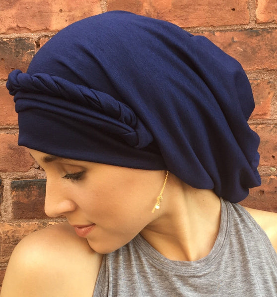 Wrap Around Head Scarf Hijab Boho Chic For Women in 4 colors - Uptown Girl Headwear