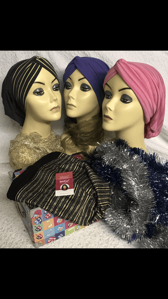 Group and Bundle Of Four Snood Turban Hijab - Uptown Girl Headwear