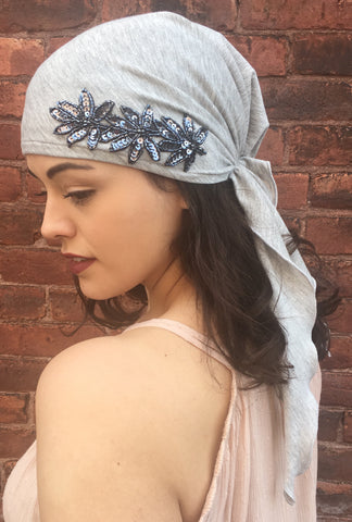 Easy Slip On Style Pre-Tied Fitted Head Wrap Chic Hair Scarf To Relax and Chill - Uptown Girl Headwear