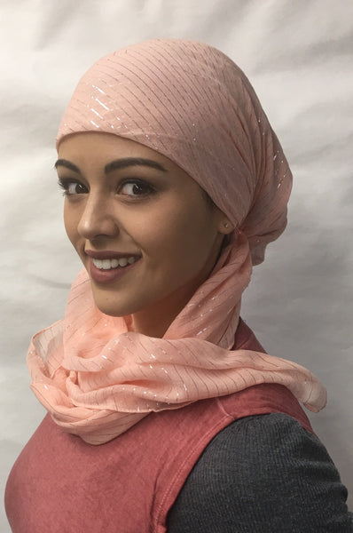Cotton Pre Tied Headscarf Slip On Style Hair Net Bandana Hijab Chemo Head Scarf For Jewish Christian Muslim African Women - Uptown Girl Headwear