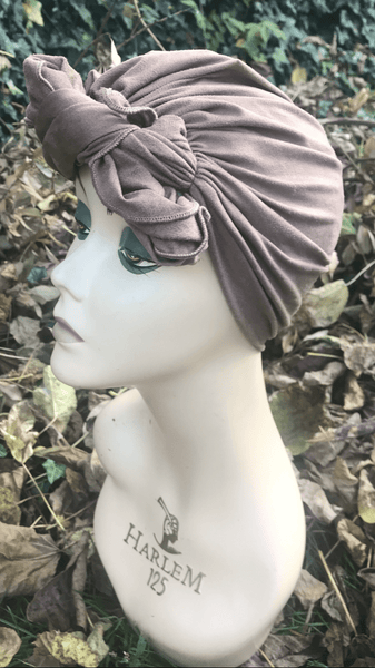 Pre Tied Head Scarf. Suede Style For Women To Cover & Conceal Hair. Made in USA - Uptown Girl Headwear