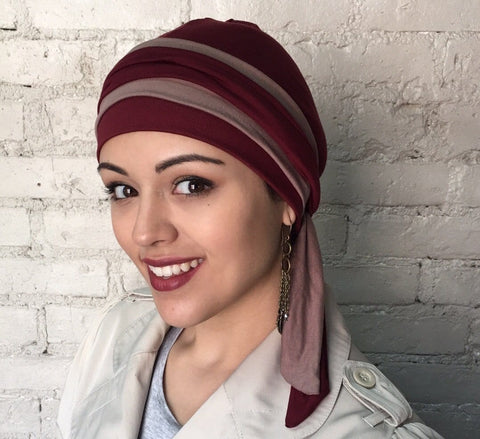 We Premium Bamboo Wrap Around Hat Hijab Tichel Head Scarf - Uptown Girl Headwear