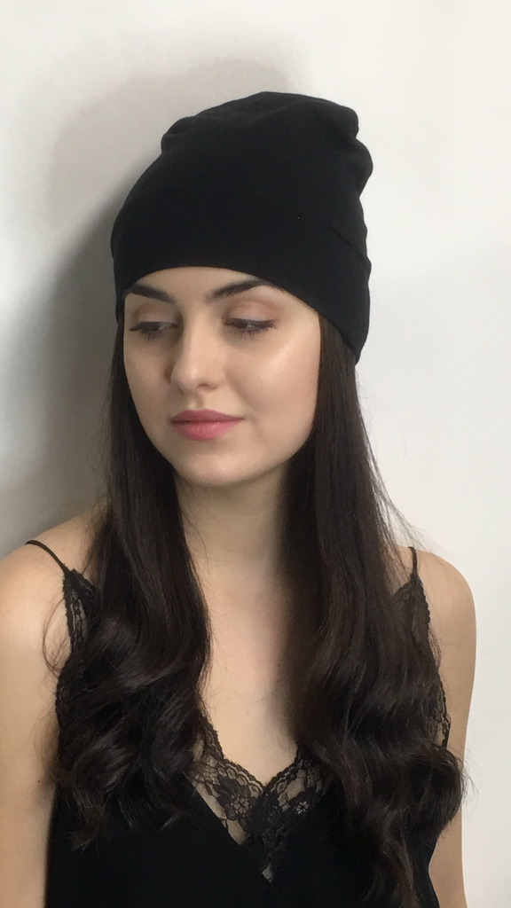 Bamboo Eco Friendly Sustainable Fabric Stretchy Beanie Sleep Hat Running Sport Cap In 7 Colors - Uptown Girl Headwear