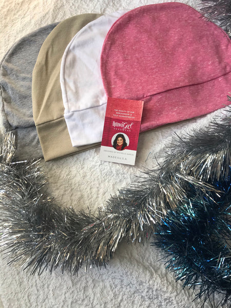Chemo Gift Bundle Of 3 Sleeping Caps For Children & Girls Without Hair, Or Lightweight Head Warmers - Uptown Girl Headwear