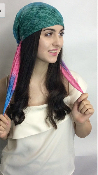Cotton Candy Colorful Pre-Tied Ultra Lightweight Headscarf - Uptown Girl Headwear
