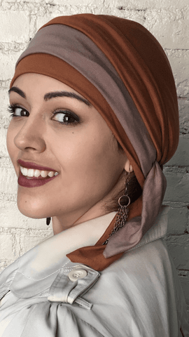 Premium Bamboo Wrap Around Hat Hijab Tichel Head Scarf. Made in USA - Uptown Girl Headwear