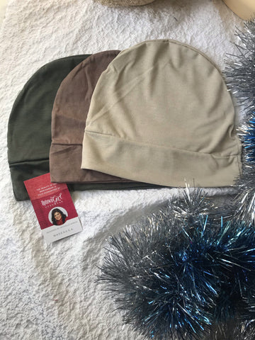 Personal Gift Set Bundle of 3 Chemo Night Day Caps For Sleeping In For Lining a Scarf or Helmet - Uptown Girl Headwear