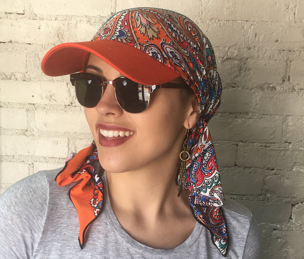 Sun Visor Hijab Head Scarf Hair Wrap - Uptown Girl Headwear