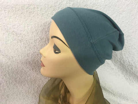 Premium Jade Green 100% USA Organic Cotton Tagless Unisex Sleep Night Running Cap Hat - Uptown Girl Headwear