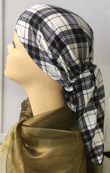 Tie Back Hat Surgical Scrub Cap To Conceal Hair In Hospital. Made in USA - Uptown Girl Headwear
