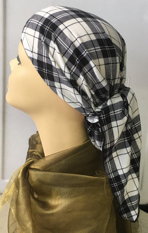 Flannel Fabric Head Scarf Comfortable Soft Breathable - Uptown Girl Headwear