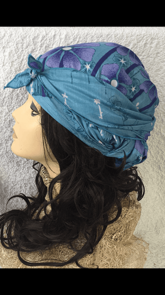 Spring Summer Soft Cotton Head Wrap Tichel Hijab. Made in USA | 5 Color Choices - Uptown Girl Headwear