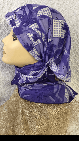 Tie Back Cap Breathable Cotton Head Wrap To Cover and Conceal Your Hair Tichel Hijab. Made in USA - Uptown Girl Headwear