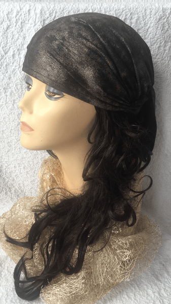 Vintage Style Rustic Antique Boho Chic Pre Tied HeadScarf. Made in USA - Uptown Girl Headwear