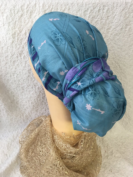 Lightweight Comfortable Beautiful Soft Cotton Head Wrap Tichel Hijab. Made in USA | 5 Color Choices - Uptown Girl Headwear