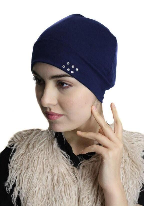 Cotton Chemo Sleep Cap With Authentic Swarovski Crystals