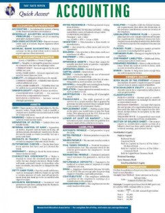 Accounting Quick Access Reference Card