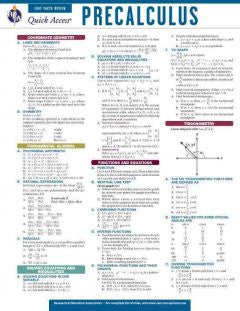 Precalculus: REA Quick Access Fast Facts Review
