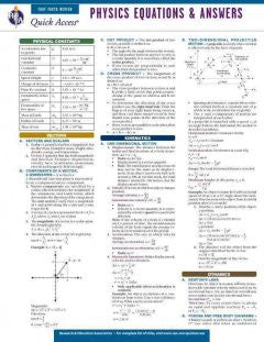Physics Equations & Answers