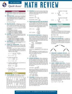 Math Review:Rea Quick Access Reference Chart