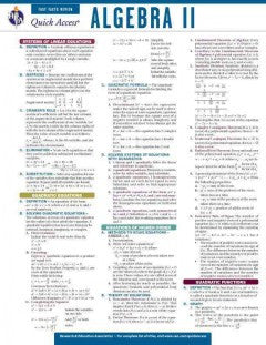 Algebra II: REA Quick Access Fast Facts Rreview