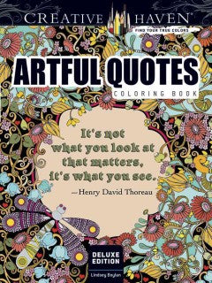 Creative Haven Coloring Book Artful Quotes