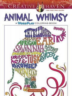 Animal Whimsy: A Wordplay Coloring Book - Adult