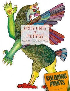 Creatures of Fantasy Coloring Book: An Adult Coloring Book Featuring Unicorns, Dragons, Griffins and More